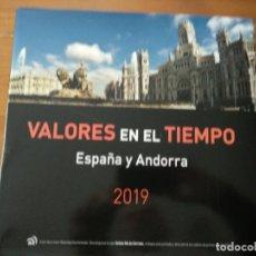 Sellos: LIBRO SELLOS 2019 CORREOS OFICIAL ESPAÑA VALORES EN EL TIEMPO. Lote 194602617