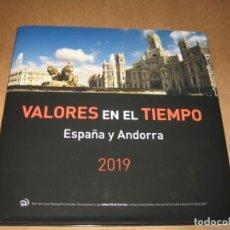 Sellos: LIBRO DE CORREOS VALORES EN EL TIEMPO ESPAÑA Y ANDORRA 2019. Lote 194899947