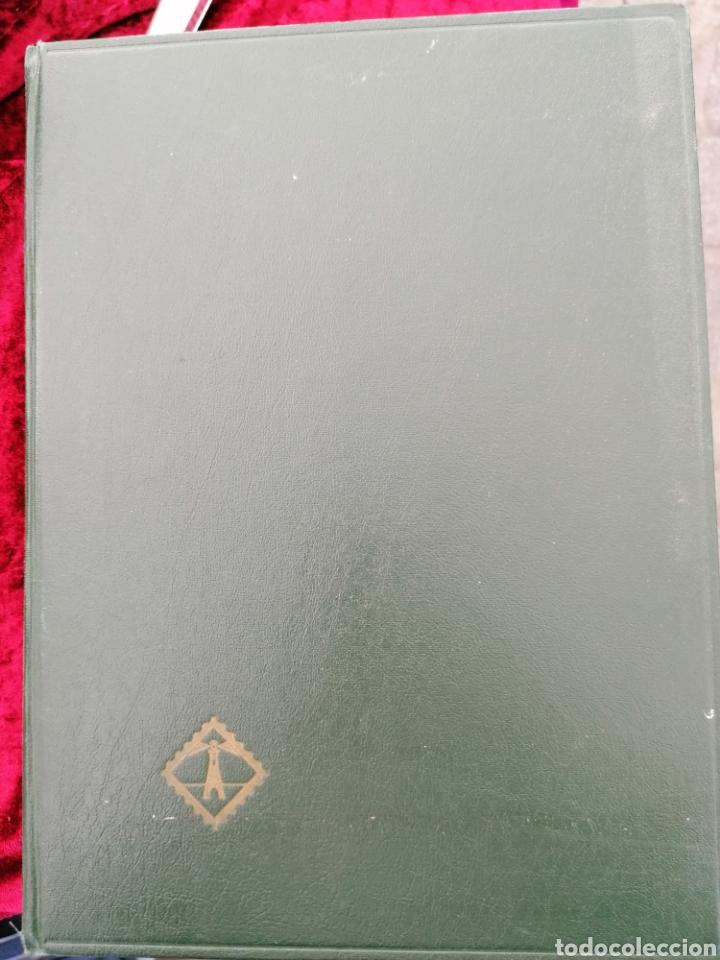 Sellos: Clasificador Sellos 16 hojas 32 páginas tamaño folio. Línea intermedia de separación - Foto 3 - 195008357