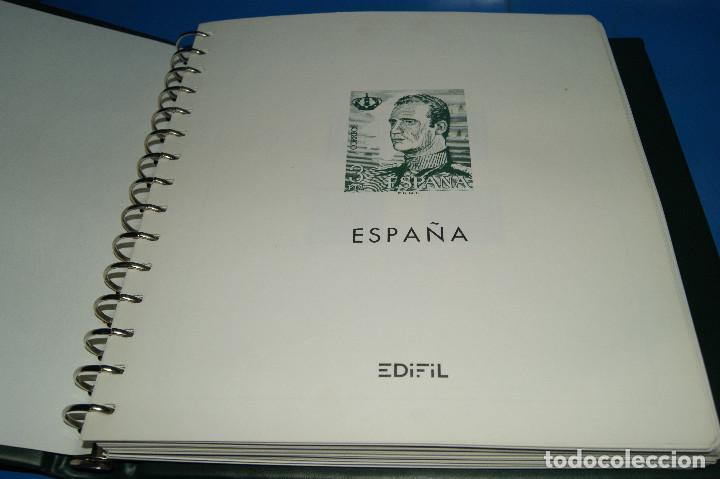 Sellos: Album de sellos de ESPAÑA edifil + de 500 sellos de España-buen estado - Foto 2 - 195109111