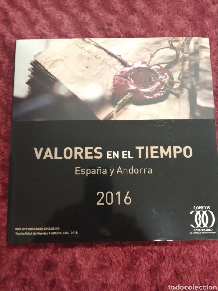 LIBRO VALORES EN EL TIEMPO 2016 DE CORREOS SIN SELLOS (Sellos - Material Filatélico - Álbumes de Sellos)