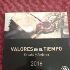 Sellos: LIBRO VALORES EN EL TIEMPO 2016 DE CORREOS SIN SELLOS. Lote 195324993