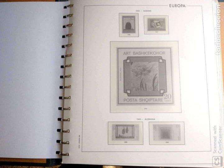 Sellos: Álbum Edifil semilujo de color verde, con título EUROPA + Hojas crema tema Europa 1993/94/95 montad - Foto 4 - 195359181