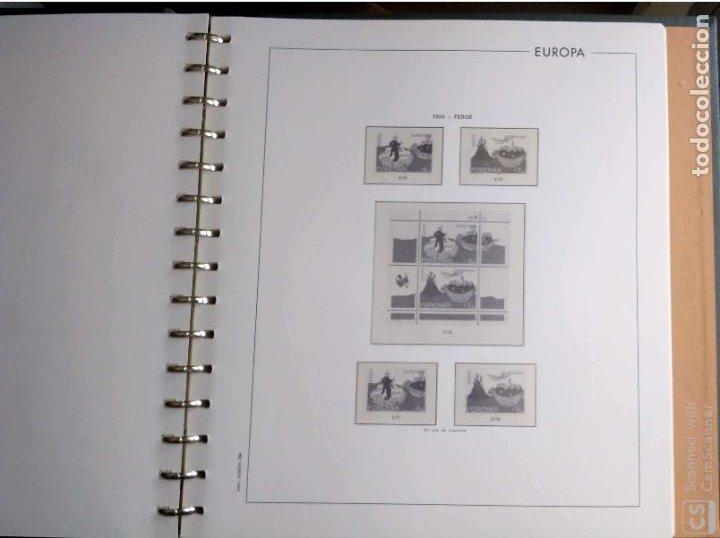 Sellos: Álbum Edifil semilujo de color verde, con título EUROPA + Hojas crema tema Europa 1993/94/95 montad - Foto 6 - 195359181