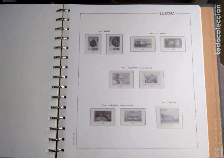 Sellos: Álbum Edifil semilujo de color verde, con título EUROPA + Hojas crema tema Europa 1993/94/95 montad - Foto 7 - 195359181
