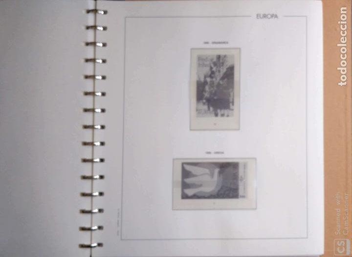 Sellos: Álbum Edifil semilujo de color verde, con título EUROPA + Hojas crema tema Europa 1993/94/95 montad - Foto 8 - 195359181