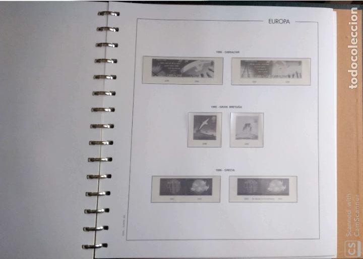 Sellos: Álbum Edifil semilujo de color verde, con título EUROPA + Hojas crema tema Europa 1993/94/95 montad - Foto 9 - 195359181