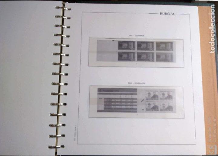 Sellos: Álbum Edifil semilujo de color verde, con título EUROPA + Hojas crema tema Europa 1993/94/95 montad - Foto 10 - 195359181