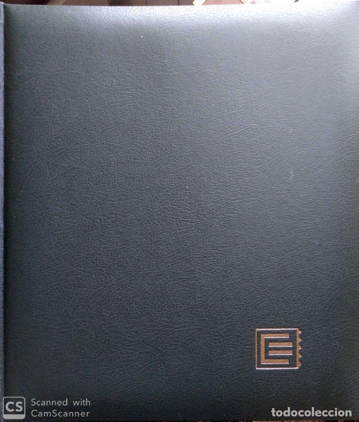ÁLBUM EDIFIL SEMILUJO DE COLOR VERDE, CON TÍTULO EUROPA + HOJAS CREMA TEMA EUROPA 1993/94/95 MONTAD (Sellos - Material Filatélico - Álbumes de Sellos)