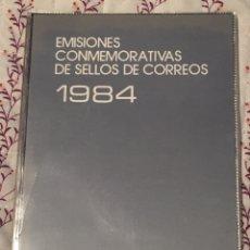 Sellos: ALBUM OFICIAL 84 DE CORREOS EMISIONES FILATÉLICAS ANUAL CON SELLOS. Lote 195488973