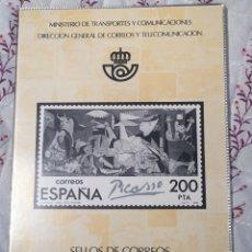 Sellos: ALBUM OFICIAL 81 DE CORREOS EMISIONES FILATÉLICAS ANUAL CON SELLOS. Lote 195490335
