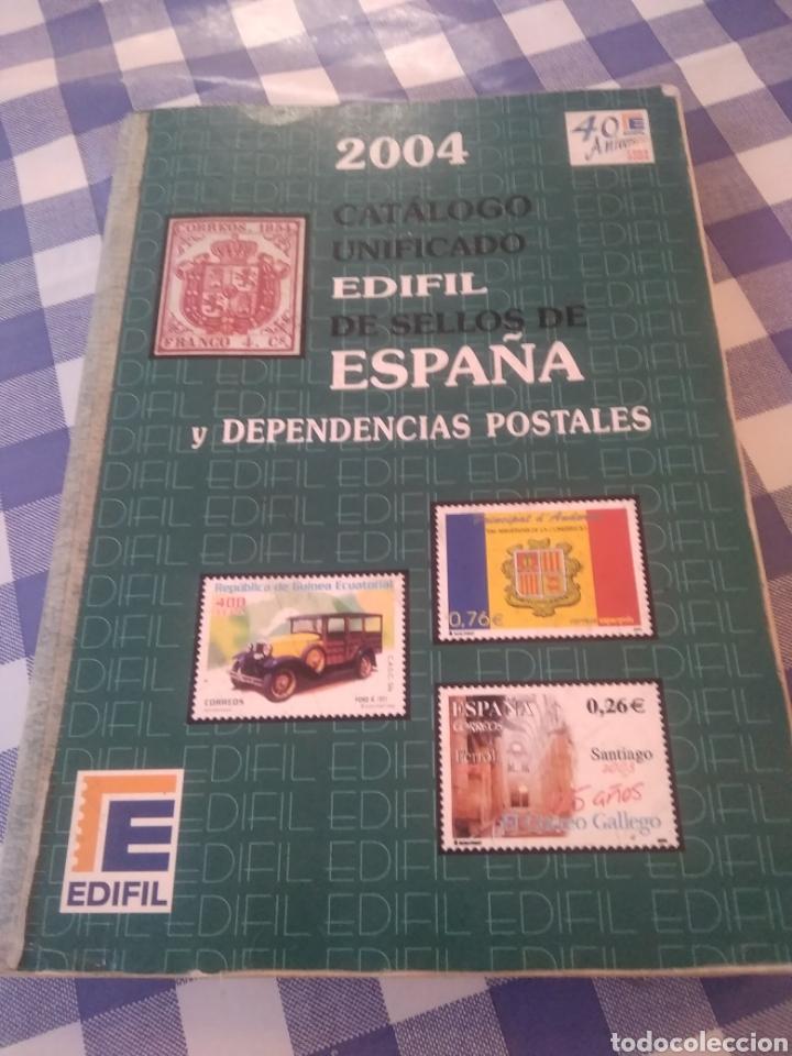 CATALOGO UNIGICADO EDIFIL DE SELLOS DE ESPAÑA Y DEPENDENCIAS POSTALES 2004 (Sellos - Material Filatélico - Álbumes de Sellos)