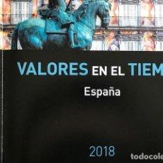 Sellos: LIBRO OFICIAL DE CORREOS AÑO 2018 VALORES EN EL TIEMPO CON SELLOS. Lote 201971421