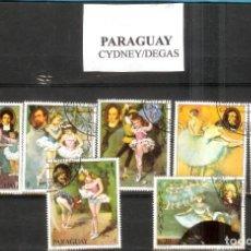 Sellos: LOTE DE SELLOS DE PARAGUAY. PINTORES CYDNEY/DEGAS. Lote 203089197