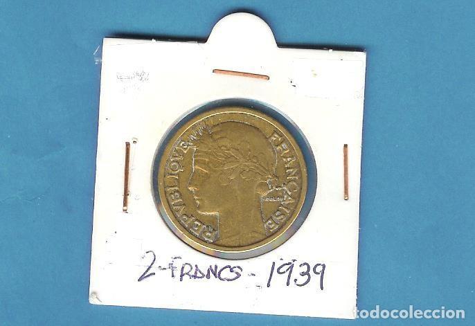 FRANCIA 2 FRANCS 1939. BRONCE-ALUMINIO. KM#886 (Sellos - Material Filatélico - Álbumes de Sellos)