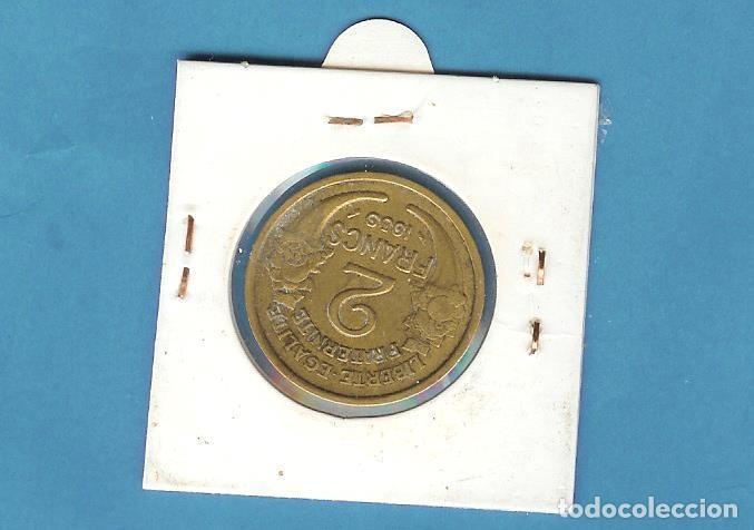 Sellos: FRANCIA 2 FRANCS 1939. BRONCE-ALUMINIO. KM#886 - Foto 2 - 203154017
