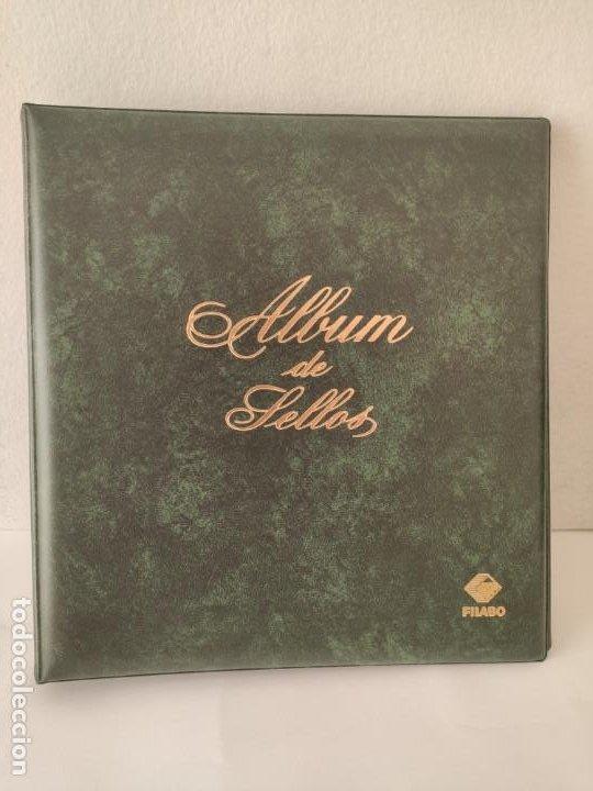ALBUM FILABO CON 69 HOJAS FILABO EN COLOR AÑOS 2001 2002 2004 2005 2006 VER IMAGENES (Sellos - Material Filatélico - Álbumes de Sellos)