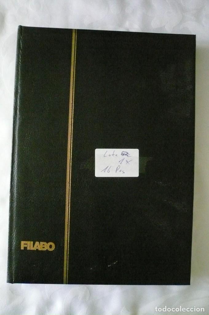 1 ALBUM PARA SELLOS DE BLOQUES DE 4 TRANSPARENTE FILABO 16 PAGINAS LOTE 1 X (Sellos - Material Filatélico - Álbumes de Sellos)