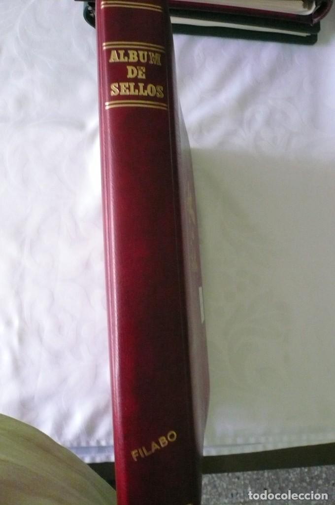 1 ALBUM PARA SELLOS DE BLOQUES DE 4 MONTADO TRANSPARENTE FILABO 1978-1980 LOTE 2 X SIN SELLOS (Sellos - Material Filatélico - Álbumes de Sellos)