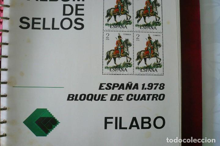 Sellos: 1 album para sellos de bloques de 4 montado transparente filabo 1978-1980 lote 2 x sin sellos - Foto 3 - 205726825