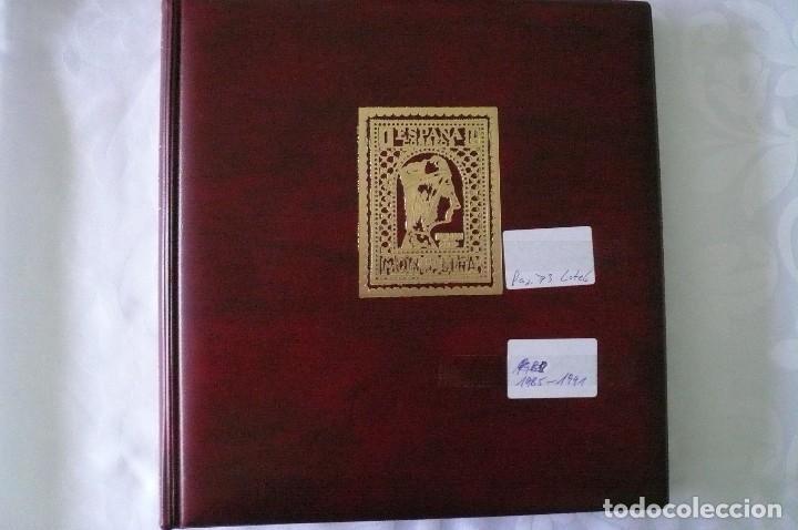 Sellos: 1 album para sellos 1985 -1991 montado en negro olegario 73 paginas lote 6 x sin sellos - Foto 2 - 205729302