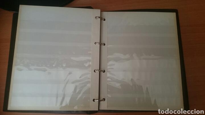 Sellos: Album para sellos, filatelico, 4 anillas,,20x 23 cm. con 6 hojas,sin usar - Foto 2 - 207487748