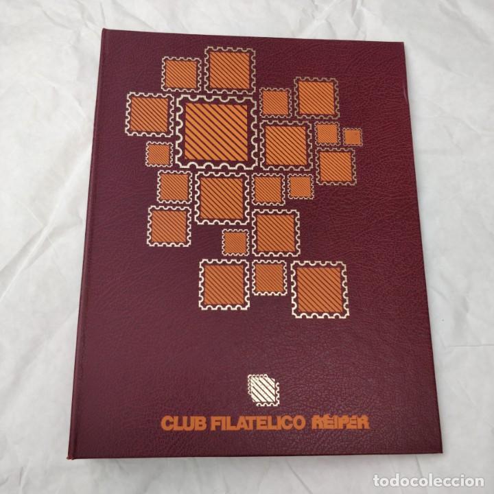 ALBUM PARA SELLOS DEL CLUB FILATELICO REIPER CON ESTUCHE ARTESANO (NO TIENE HOJAS) (Sellos - Material Filatélico - Álbumes de Sellos)