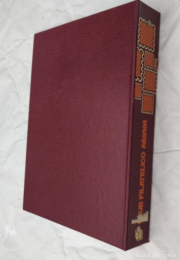 Sellos: Album para sellos del Club Filatelico Reiper con estuche artesano (no tiene hojas) - Foto 3 - 210710502
