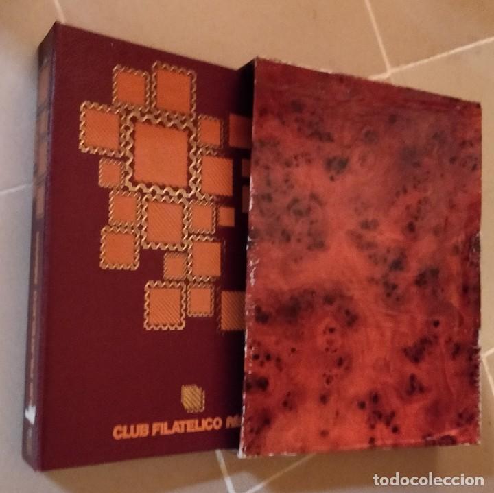 Sellos: Album para sellos del Club Filatelico Reiper con estuche artesano (no tiene hojas) - Foto 4 - 210710502