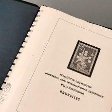 Sellos: NUMULITE * ÁLBUM EXPOSICIÓN UNIVERSAL BRUSELAS BRUXELLES 1958 MONTADO CON HABBIS SIN SELLOS. Lote 211603042