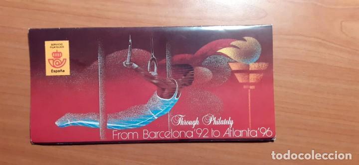 Sellos: Album carpeta de sellos emitido por Correos, de Barcelona 92 a Atlanta 96 a través de la Filatelia - Foto 4 - 214244402
