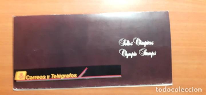 Sellos: Album carpeta de sellos emitido por Correos, de Barcelona 92 a Atlanta 96 a través de la Filatelia - Foto 5 - 214244402