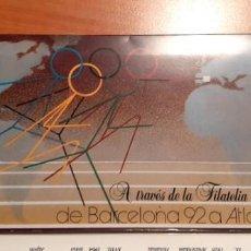 Sellos: ALBUM CARPETA DE SELLOS EMITIDO POR CORREOS, DE BARCELONA 92 A ATLANTA 96 A TRAVÉS DE LA FILATELIA. Lote 214244402
