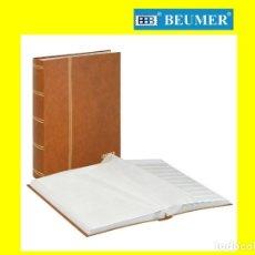 Sellos: CLASIFICADOR LINDNER 1162-H. 48 PÁGINAS. HOJAS BLANCAS. 10 BANDAS/PÁGINA. DOBLE SEPARADOR. BEIGE. Lote 215916838