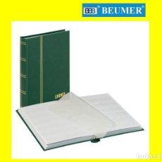 Timbres: CLASIFICADOR LINDNER 1159-G. 32 PÁGINAS. HOJAS BLANCAS. 6 BANDAS . DOBLE SEPARADOR.VERDE. 165X220MM.. Lote 215923477