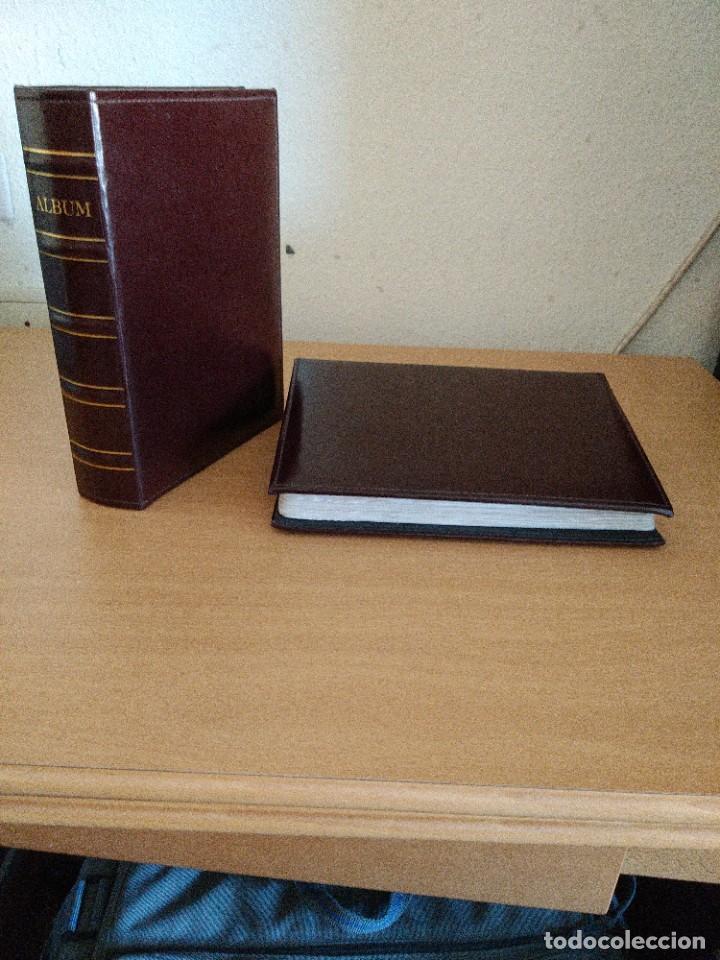 Sellos: Album para Tarjetas Maximas o postales en piel para 200 piezas.Medidas 26 X 18 cms. Precio por unida - Foto 2 - 217915766