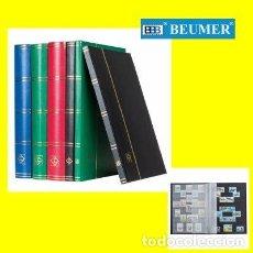 Timbres: CLASIFICADOR LEUCHTTURM MODELO BASIC. 16 PAGINAS NEGRAS.9 BANDAS TRANSPARENTES. 230X305MM.. Lote 218091488
