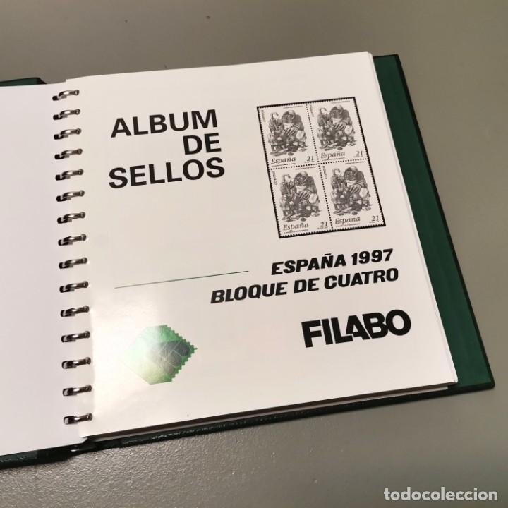 NUMULITE E0105 ÁLBUM DE SELLOS FILABO HOJAS BLOQUE DE CUATRO 4 CON HABBY AÑO 1997 1998 1999 2000 (Sellos - Material Filatélico - Álbumes de Sellos)