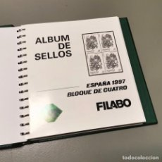 Sellos: NUMULITE E0105 ÁLBUM DE SELLOS FILABO HOJAS BLOQUE DE CUATRO 4 CON HABBY AÑO 1997 1998 1999 2000. Lote 220540383