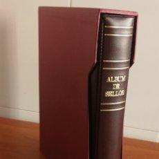 Sellos: ÁLBUM GRANATE PARA HOJAS DE 15 ANILLAS (FOTOGRAFÍAS REALES). Lote 221336235