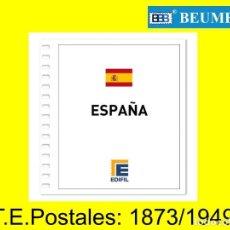 Sellos: JUEGO DE HOJAS EDIFIL. PARA TARJETAS ENTERO POSTALES. 1873/1949. CON ESTUCHES NEGROS.. Lote 223864173