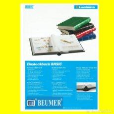 Sellos: CLASIFICADOR LEUCHTTURM, MODELO BASIC. 32 PÁGINAS. HOJAS BLANCAS. TAMAÑO: 230X305MM. ROJO.. Lote 224129090
