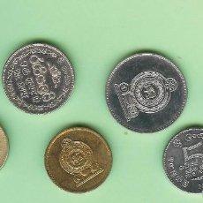 Sellos: SRI-LANKA. 7 MONEDAS DE 7 MODELOS DIFERENTES. Lote 224749722