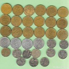 Sellos: FINLANDIA. 33 MONEDAS DE 10 PENNIAS, 33 FECHAS, 3 MODELOS DIFERENTES. Lote 224988625