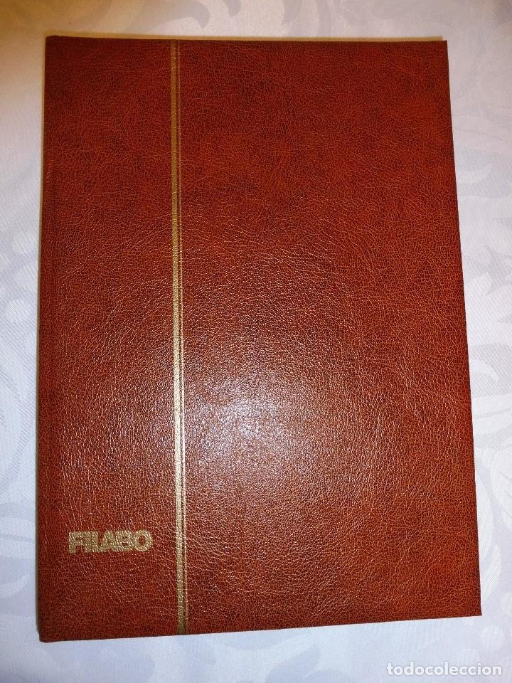 1 ALBUM PARA SELLOS DE BLOQUES DE 4 TRANSPARENTE FILABO 16 PAGINAS (Sellos - Material Filatélico - Álbumes de Sellos)