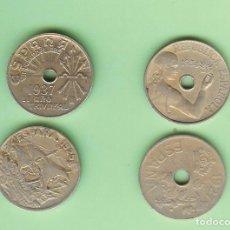Sellos: ESPAÑA. 4 MONEDAS 25 CÉNTIMOS 1925,1927,1934,1937. Lote 231868155
