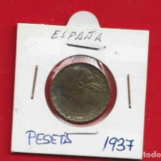 "Sellos: ESPAÑA. PESETA 1937. II REPUBLICA. ""LA RUBIA"". Lote 231895845"