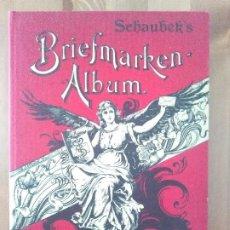 Sellos: ALBUM DE SELLO SCHAUBER'S BRIEFMARKEN-ALBUM COM SELLOD DIFERENTES PAISES. Lote 232834870