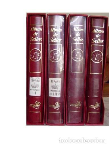 LOTE203, ESPAÑA, CUATRO ALBUM CON SUPLEMENTOS BLOQUE 4, 1980/1997, 80% DTO. (Sellos - Material Filatélico - Álbumes de Sellos)