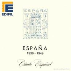 Sellos: EDIFIL.JUEGO DE HOJAS ESTADO ESPAÑOL. 1936 AL 1949. CON ESTUCHES TRANSPARENTES. Lote 287982638